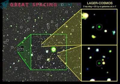 Ferne Galaxien werfen Licht auf den kosmischen dunklen Zeiten