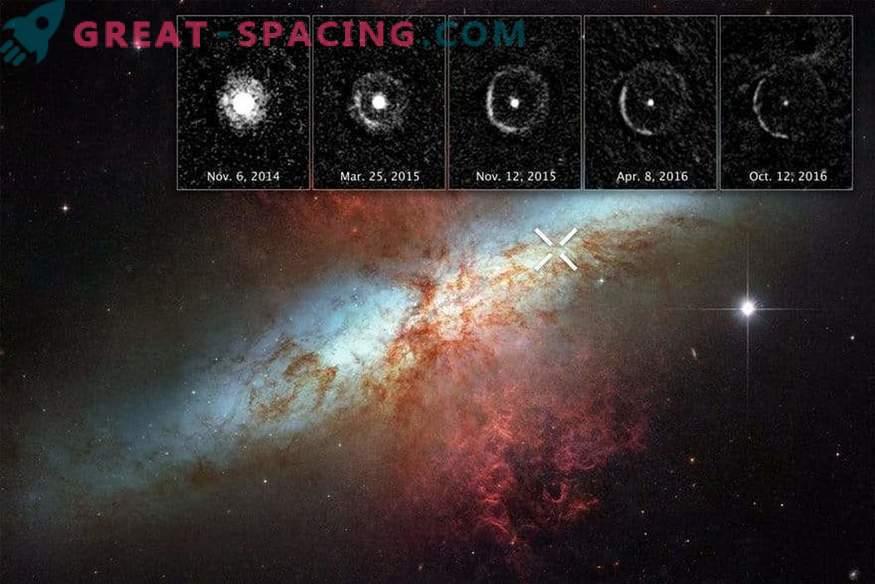 Valguskaja supernova ümber
