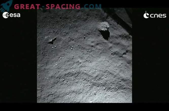 Saadud Phil'i maandumismoodulist komeetide Churyumov-Gerasimenko esimesed fotod