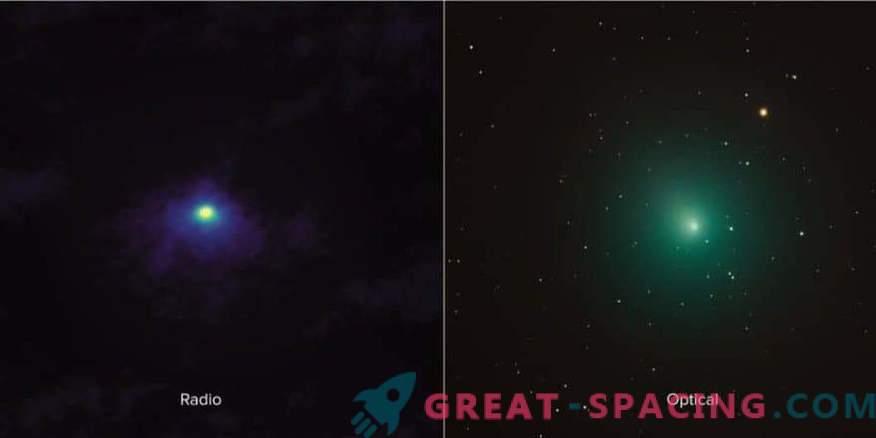 Lähivõte Comet 46P / Virtanenist ALMAst