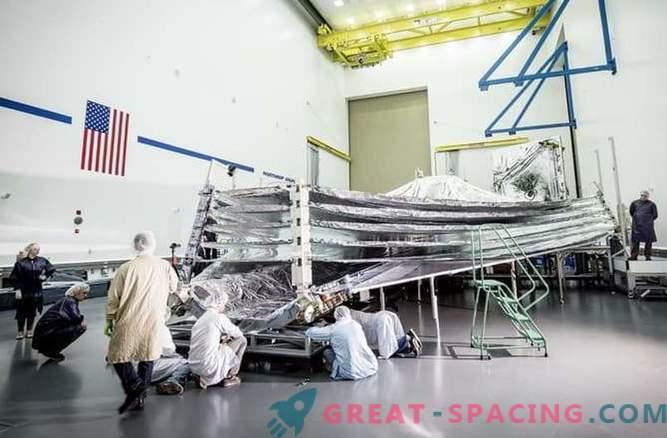 Sun-side up: James Webbi teleskoobi päikesesirm läbib testimise