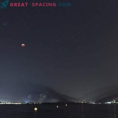 Lunar Eclipse Maggiore järve üle