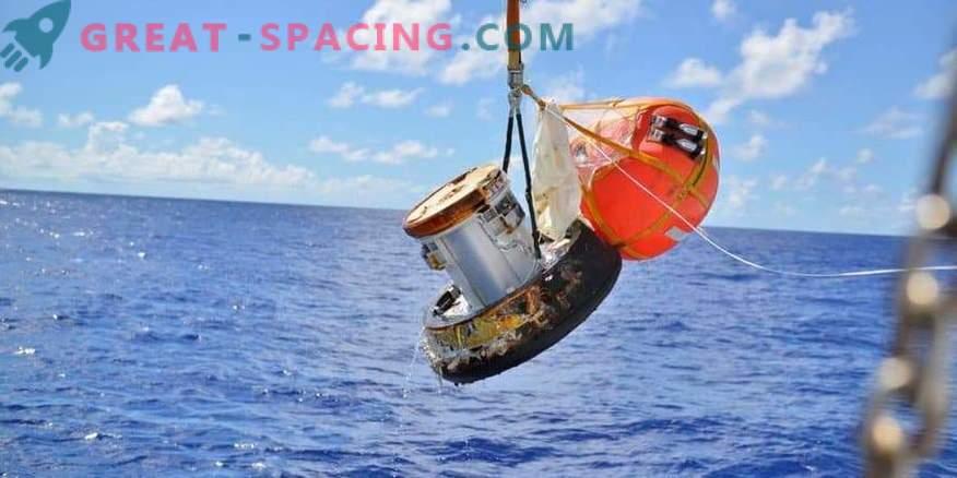 Jaapani kosmosekapsli prototüüp elas üle tulekahju maapinnale.