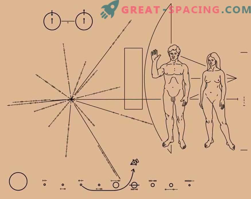 Ruumis on kaart, mis näitab Maa asukohta. Pioneeri missiooniandmed