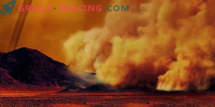 Esimest korda registreeritakse tolmu tormid Titanil