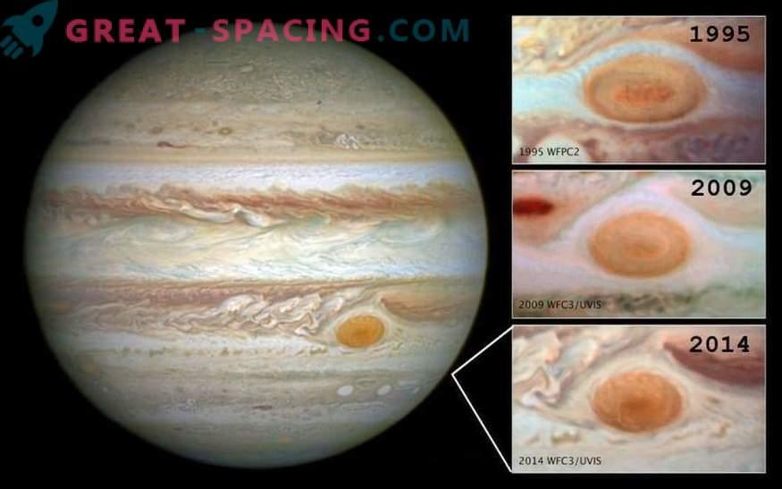 Suur punane koht väheneb jätkuvalt. Mis juhtub Jupiteriga