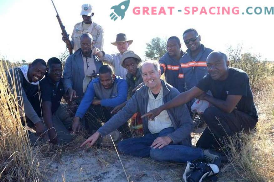 Botswanas leiduva mõju asteroidi fragment