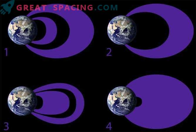 Maa kiirgusrihmad muutuvad päikesetormide tõttu.