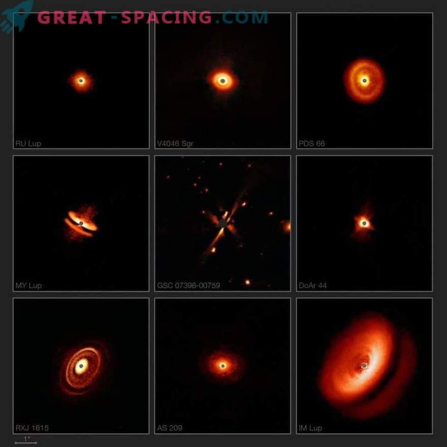 SPHERE näitab hämmastavaid plaate noorte tähtede ümber.