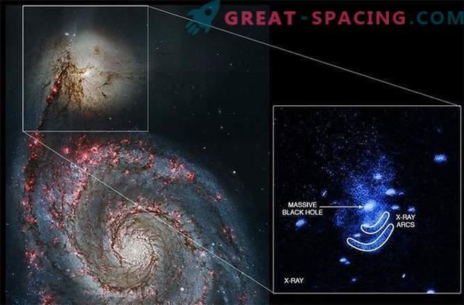 Must auk lähedal asuvas galaktikast rikutud.