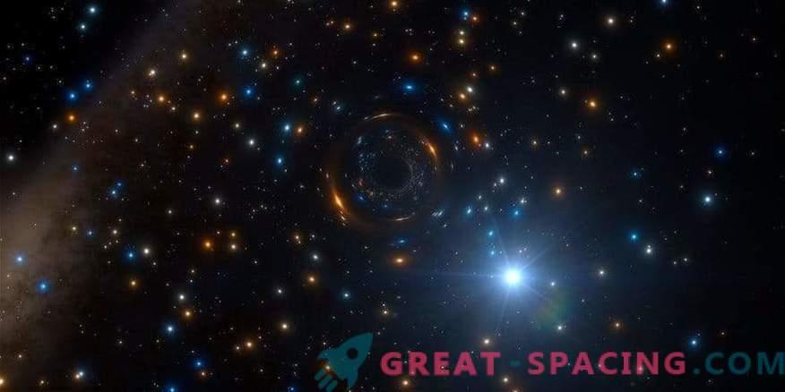 Must auk on peidetud suurte tähtede klastris
