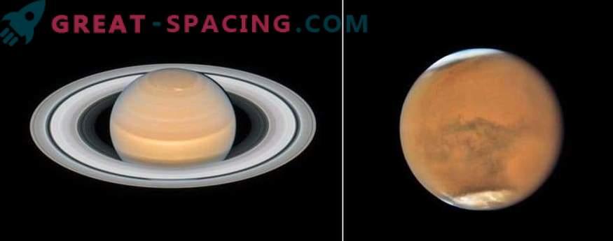 Uued pildid Marsist ja Saturnist Hubbleist