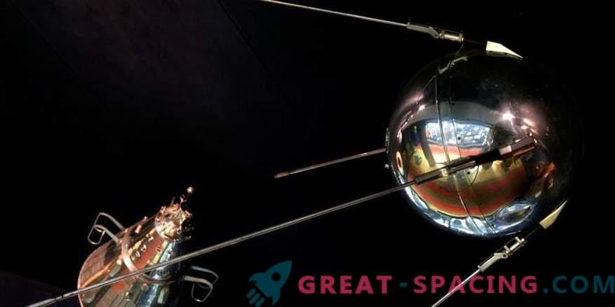 Satelliit, kust kosmoserada algas.