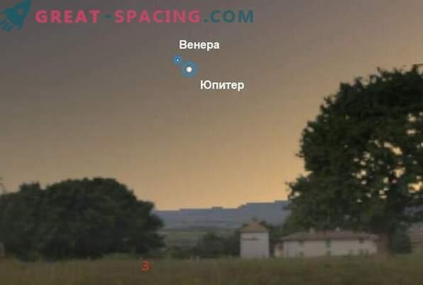 Venus ja Jupiter koos 30. juunil 2015