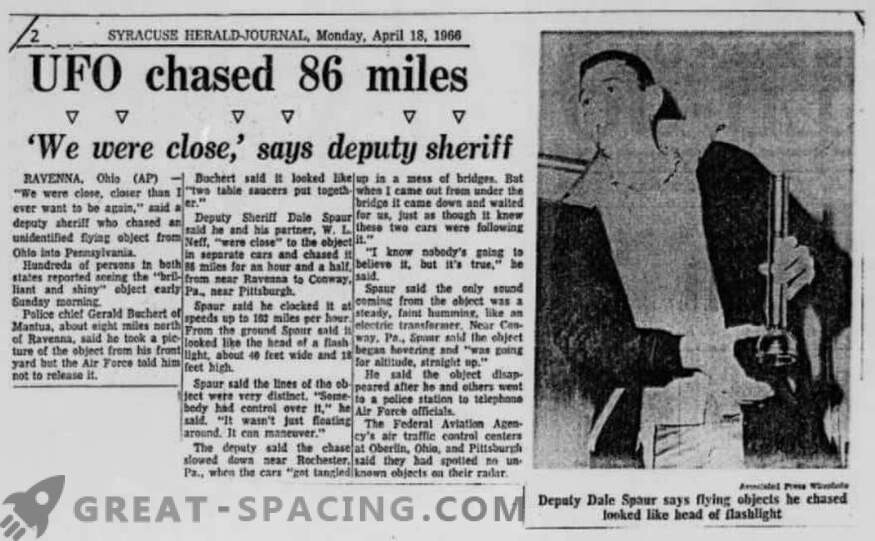 Intsident Portridge'is - 1966. Politsei kirjeldas tundmatu objekti püüdlemist