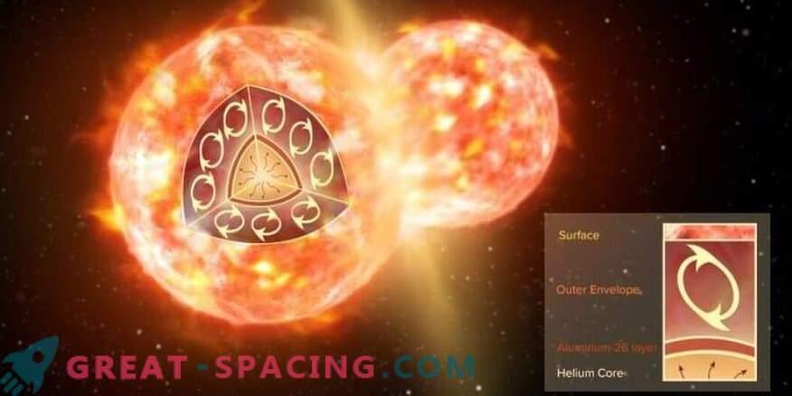 Paar omavahel kokku puutuvat tähte vabastab molekule kosmosesse.