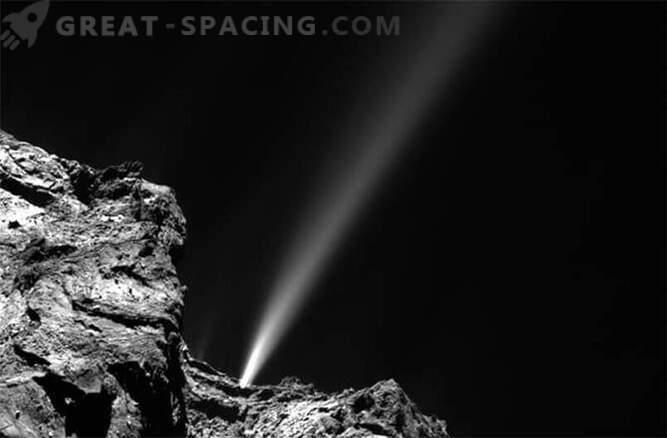 Comet Rosetta on täna säravama joa välja visanud.