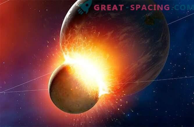Kokkupõrge maapinnalise planeediga tekitas kuu.