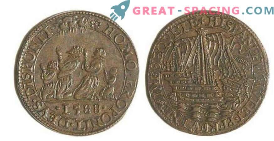 Vana 17. sajandi Prantsuse mündi joonistamine meenutab välismaalase laeva. Arvamus ufologov